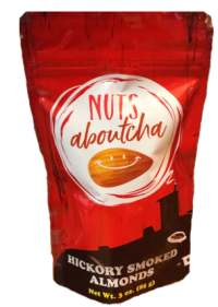 Nutsaboutcha hickory smoked nuts product bag